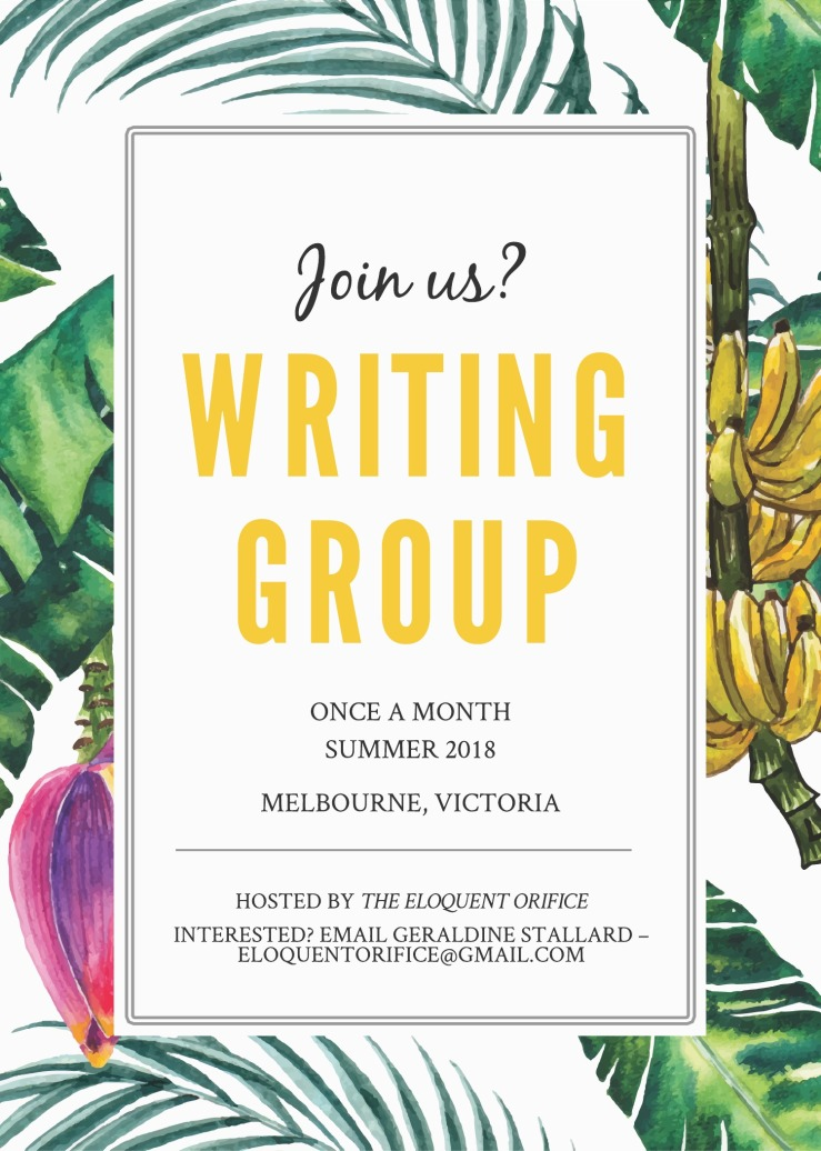 EO Writing Group Flyer